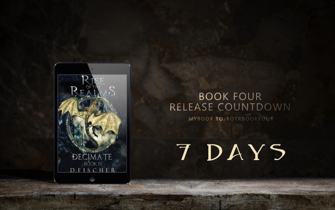 Rise of the Realms, an epic fantasy series by female author D. Fischer