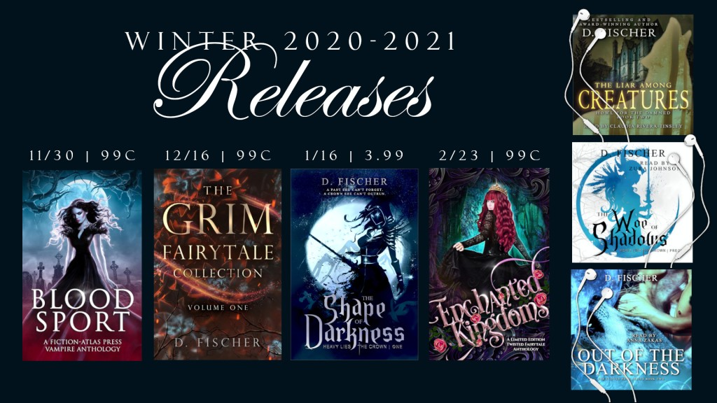 D. Fischer's new young adult novels being published in 2020 and 2021.